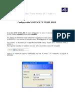 Manual Configuracion Zxdsl 831 II