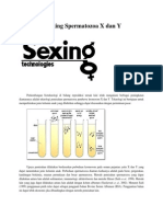 Teknologi Sexing Spermatozoa X Dan Y