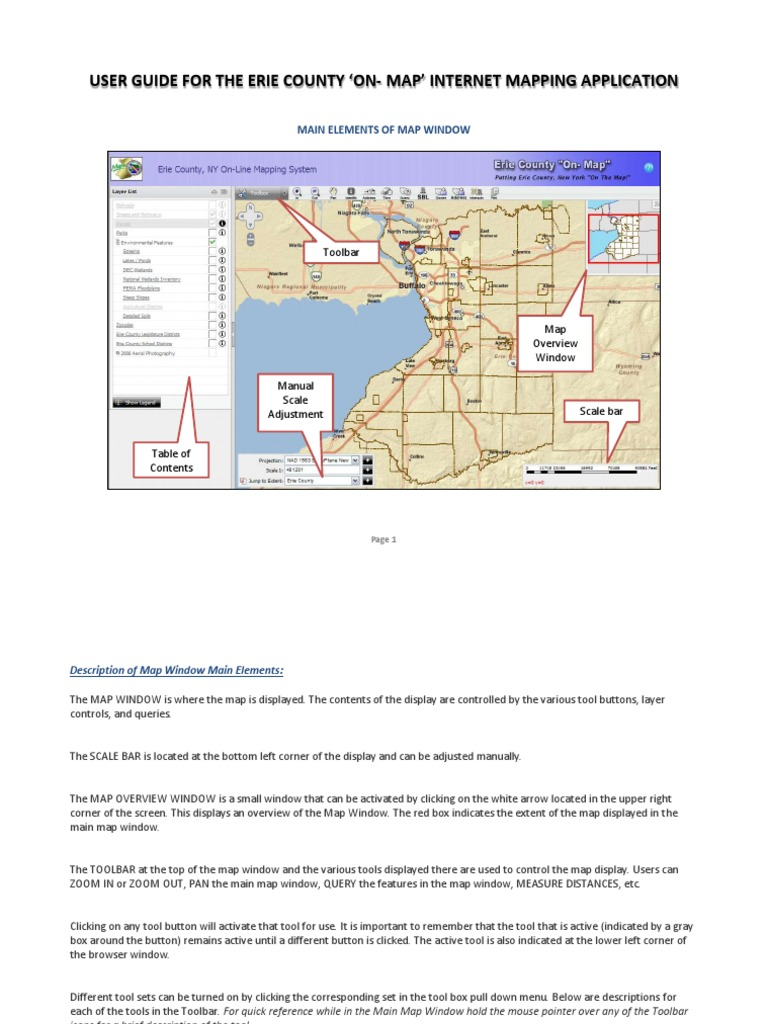 Ogis Mapping Site Help   Button (Com)   Map on