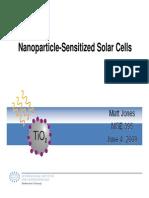 Jones NP Sensitized Solar Cells