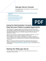 Using the WebLogic Server Console