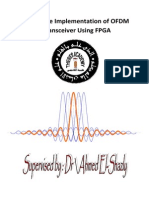 Hardware Implemntation of OFDM Transimiter and Receeiver Using FPGA