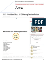 IBPS PO Held on 19 Oct 2013 Morning Session Review _ Instant Job Alerts
