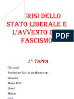 La crisi dello stato liberale e l'avvento del fascismo
