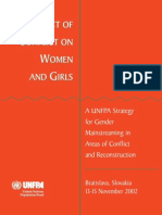 the impact of conflict on women and girls
