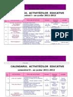 Calendar Activitati Educative Lb. Franceza