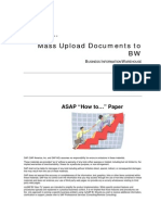 How to Mass Upload Documents to BW