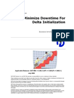 How to Minimize Downtime for Delta Initialization