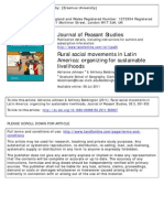 Bebbington and Johnson (2011) - (Reseña al libro) rural social movements in latin america