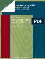 Chiriboga (2009) - Instituciones y Organizaciones Para La Seguridad Alimentaria en AL