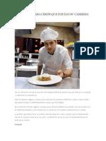Consejos Para Chefs Que Inician Su Carrera