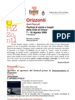 Orizzonti Festival 2009 a Chiusi (SI)
