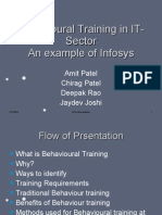 Behavioural Training in IT-Sector