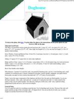 Dog House Plans 3