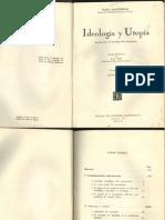 Karl Mannheim - Ideología y utopía