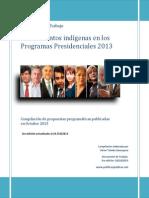 Chile. Asuntos Indígenas en Programas Presidenciales 2013. Versión3
