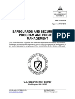 Safeguards and Security for Program and Project Management
