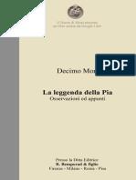 D. Mori - La leggenda della Pia - Osservazioni ed appunti