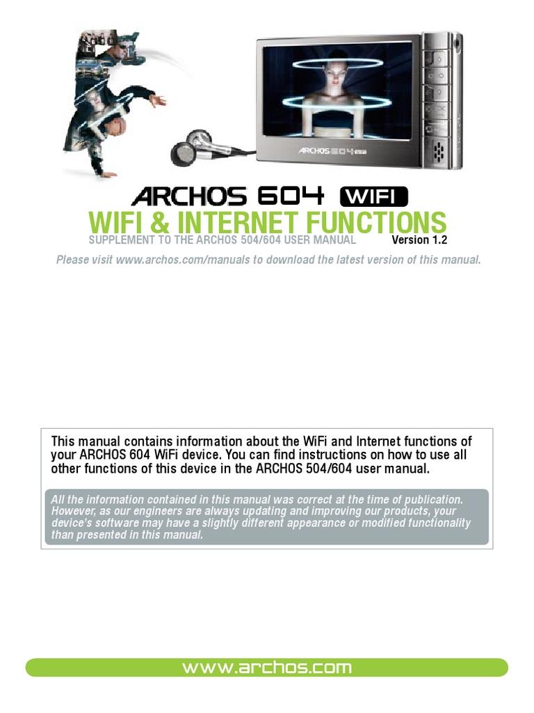 Archos 604   user manual.