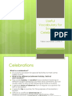 Useful Vocabulary for Social Celebrations