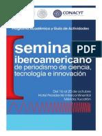 ProgramaISeminarioPeriodismodeCiencia_2013