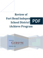 Fort Bend iAchieve Report Final