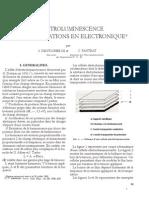 Otto. DEUTSCHBEIN et Charles PAUTRAT - L'électroluminescence et ses applications en électronique,