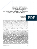 Consideraciones sobre reformas borbónicas y revolución