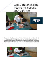 LA EDUCACIÓN EN NIÑOS CON DISCAPACIDAD