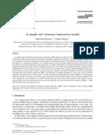 2000 a Simple Soil-structure Interaction Model. Kocak, Mengi