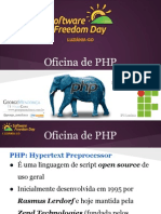 Oficina de PHP - Software Freedom Day Luziânia 2013