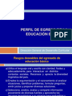 Perfil de Egreso de Educacion Basica