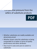 Competitive Pressure From the Sellers of Substitute Productsggg