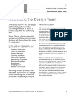 Building for the Performing Arts 4 - Recruiting the Consultant Design Team