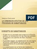 La Dimension Afectiva de Los Procesos de Subjetivacion