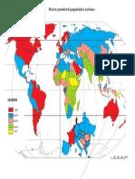 Ponderea Populatiei Urbane Pe Glob