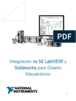 Estudiantes Integracion NI LabVIEW y Solidworks Para Diseno Mecatronico