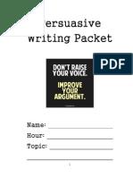 persuasive writing packet
