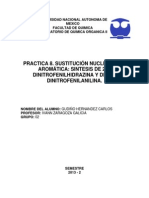Practica 8. Sustitucion Nucleofilica Aromatica. Sintesis de 2,4-Dinitrofenilh