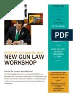 Gun Law Workshop Oct 26