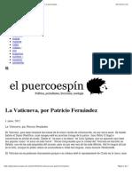 La Vaticueva, por Patricio Fernández - el puercoespin | el puercoespin