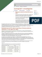 """Las Comisiones """"Anticorrupción"""" e Investigación"""