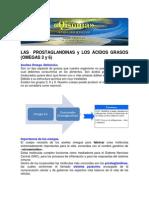 LAS PROSTAGLANDINAS y LOS ÁCIDOS GRASOS-  OMEGAS 3 Y 6