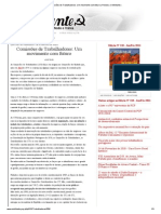 Comissões de Trabalhadores_ Um movimento com futuro _ Revista «O Militante»