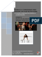 Variables a considerar para elaborar un plan nutricional Geovanna Maldonado 17698180