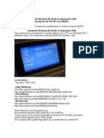 Instal an Do Windows XP Desde Un Dispositivo USB
