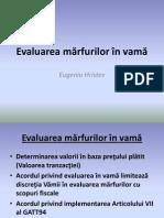 Evaluarea Marfurilor in Vama