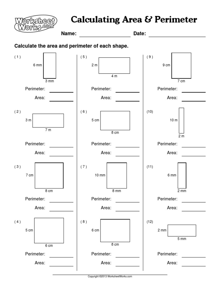 Uncategorized Worksheet Works.com Answers worksheetworks calculating area perimeter 1