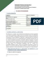 Syllabus Informática I  2013 - 2014