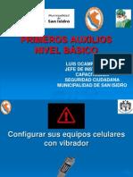 PPT PRIMEROS AUXILIOS BÁSICO MSI